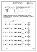 Remainders as Fractions