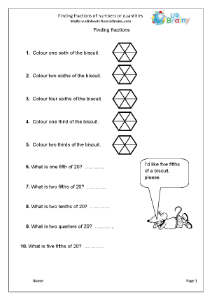 math worksheet : fractions and decimals maths worksheets for year 4 age 8 9  : Fraction Of A Quantity Worksheet