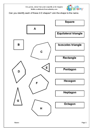 image about Printable Geometry Shapes known as Geometry (Form) Maths Worksheets for 12 months 4 (age 8-9)