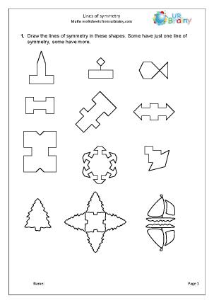 Geometry (Shape) Maths Worksheets for Year 4 (age 8-9)