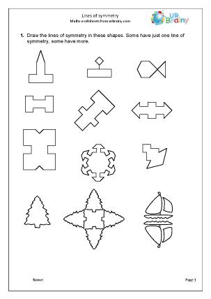 math worksheet : geometry shape maths worksheets for year 4 age 8 9  : Symmetry Math Worksheets