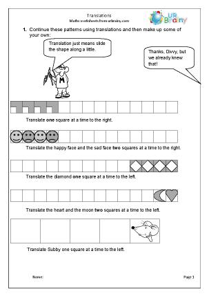 math worksheet : translations geometry shape maths worksheets for year 4 age 8 9  : Maths Translations Worksheet