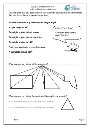 Angle as a measure of turn