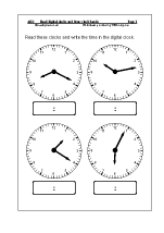 Read digital clocks and draw clock hands