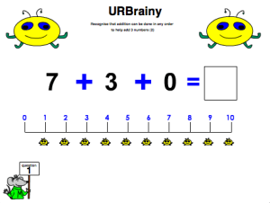 Preview of game Add Three Numbers (Using a Number Line)