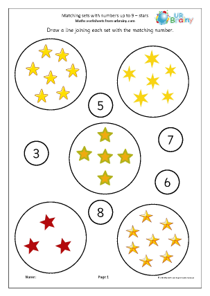 Matching Sets to Numbers - Stars