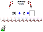 Add a Single Digit to 20 with a Number Line