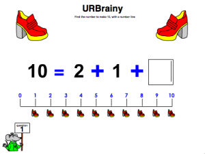 Preview of game  Find the Number to Make 10 with a Number Line