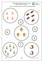 Matching Sets to Numbers - Cakes