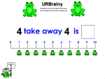 Use 'Take Away' up to 10 with a Number Line