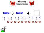 Use 'Take From' up to 10 with a Number Line