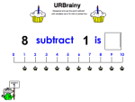 Use 'Subtract' up to 10 with a Number Line