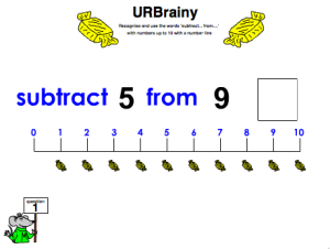 Use 'Subtract From' up to 10 with a Number Line