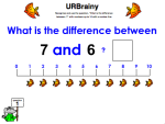 Use 'What is the Difference Between' up to 10 with a Number Line