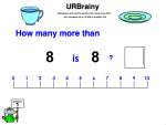 Use 'How Many More Than' up to 10 with a Number Line