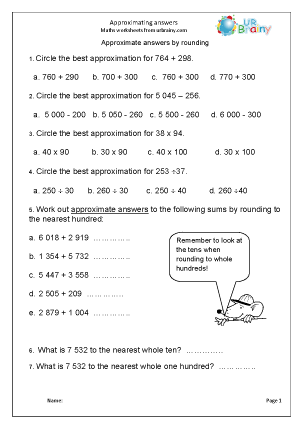 Approximating Answers