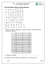 extending number sequences 1 number and place value maths worksheets for year 5 age 9 10. Black Bedroom Furniture Sets. Home Design Ideas