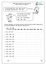 Relate addition and subtraction (1)