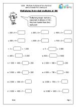 Multiply multiples of one hundred