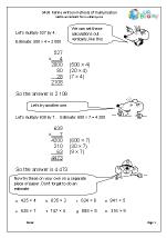 Refine written methods for multiplication