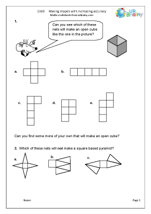Preview of worksheet  Make shapes with increasing accuracy