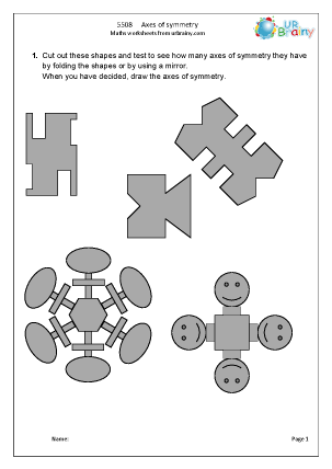 Preview of worksheet  Axes of symmetry
