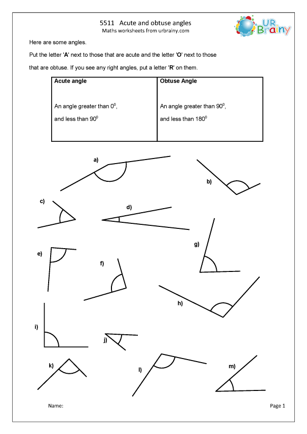 Preview of 'Acute and obtuse angles (1)'
