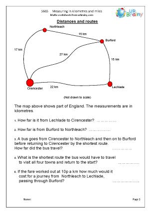 Measuring in kilometres