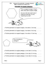 Measure the perimeter of regular polygons