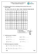 Negative numbers using co-ordinates (2)