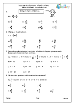 improper fractions and mixed numbers understanding number maths worksheets for year 6 age 10 11. Black Bedroom Furniture Sets. Home Design Ideas