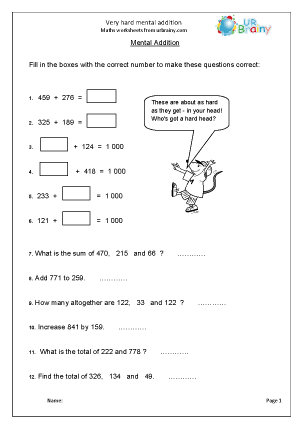 math worksheet : addition maths worksheets for year 6 age 10 11  : Year 10 Maths Worksheets