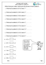 Adding on with decimals