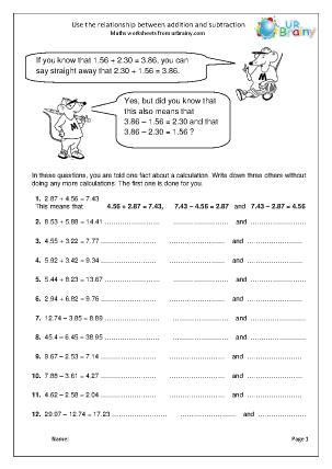 Use the Relationship between Addition and Subtraction