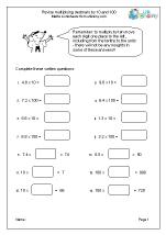 math worksheet : multiply decimals by 10 and 100 multiplication maths worksheets  : Multiplying Decimals By 10 Worksheet