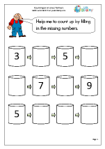 Completing a number line - farmers