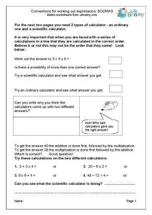 ... : Bodmas Multiplication Maths Worksheets For Year 6 (age 10-11