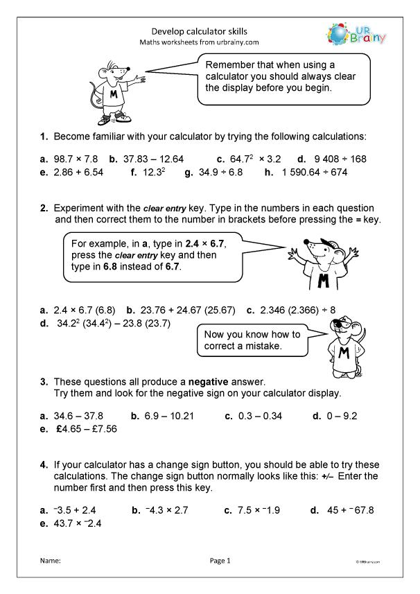 Preview of 'Develop calculator skills'