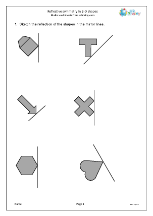 Preview of worksheet Reflective symmetry
