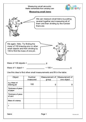 Measuring Small Amounts