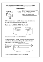 Circumference and diameter of circles