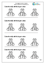 Which is the largest number? Teddies