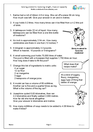 Problem solving math worksheets
