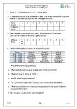 solve problems involving time reasoning problem solving maths worksheets for year 6 age 10 11. Black Bedroom Furniture Sets. Home Design Ideas