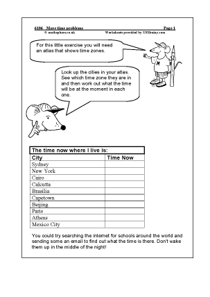 Preview of worksheet More time problems