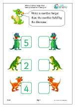 Write a larger number: dinosaurs