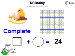 Use Symbols to Stand for Unknown Numbers with a Number Grid
