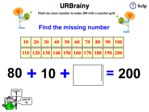 Find One More Number to Make 200 with a Number Grid