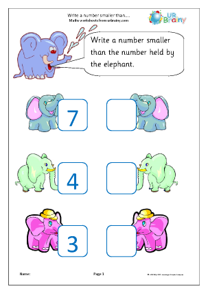 Write a Smaller Number Elephants