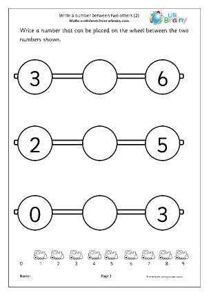 Write a Number Between Wheels
